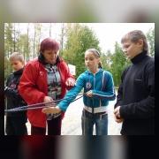 Скачкова И.Р. проводит занятие по туристкой технике
