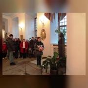 4.Возложение цветов на могилу А.В. Суворова в Нижней Благовещенской церкви Александро-Невской лавры