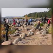 Трудовой десант на берегу Финского залива