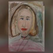 Катя Ликандрова портрет мамы 2011 ,7лет
