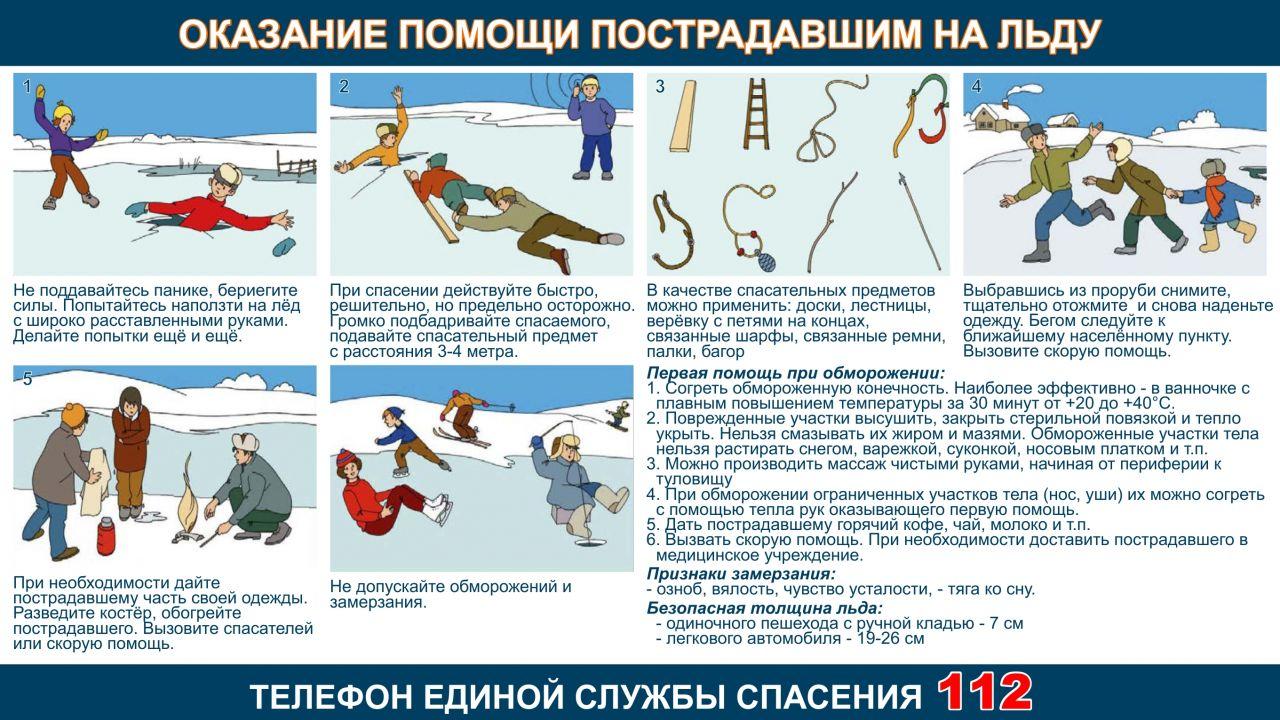 Оказание помощи пострадавшему на льду