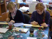 Сирота Наташа и Полина мастер-класс лаковая миниатюра